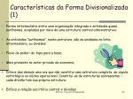 caracter sticas da forma divisionalizada 1