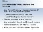 best practices for hardening dns servers