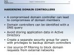 hardening domain controllers