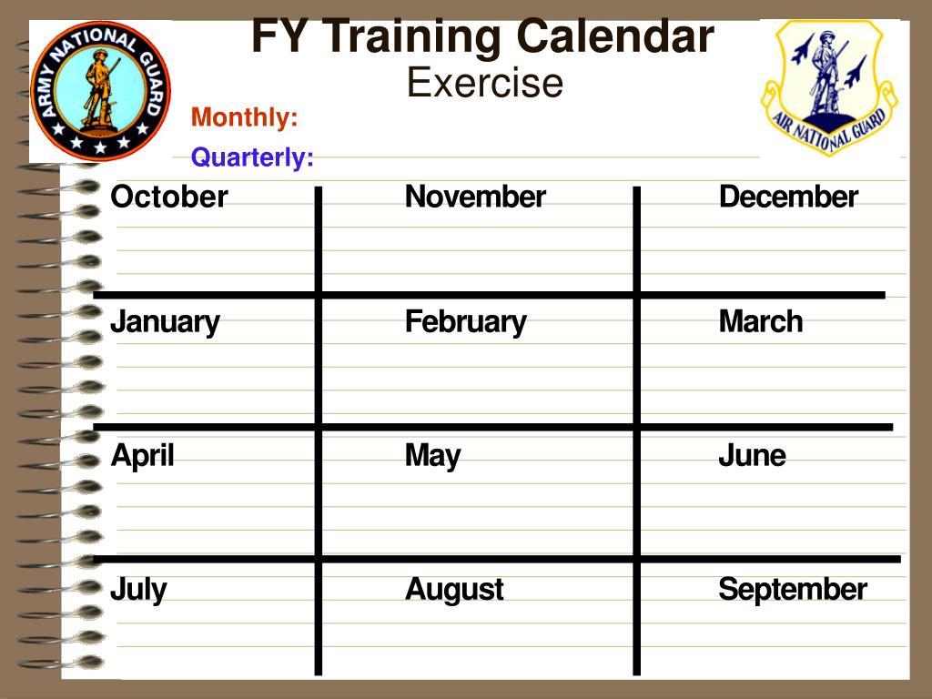 FY Training Calendar