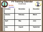 fy training calendar exercise monthly quarterly