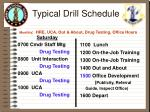 typical drill schedule monthly hre uca out about drug testing office hours