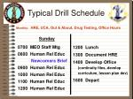 typical drill schedule monthly hre uca out about drug testing office hours11