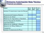 emisores autorizaci n nota t cnica integraci n con entidades