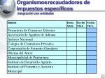 organismos recaudadores de impuestos espec ficos integraci n con entidades