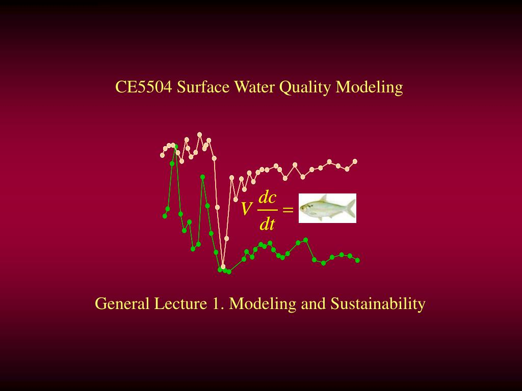 CE5504 Surface Water Quality Modeling