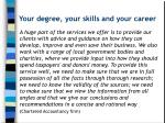 your degree your skills and your career1