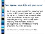 your degree your skills and your career2