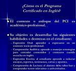 c mo es el programa certificado en ingl s