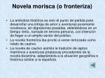 novela morisca o fronteriza