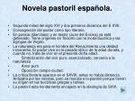 novela pastoril espa ola