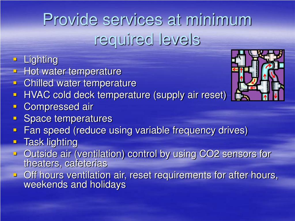 Provide services at minimum required levels