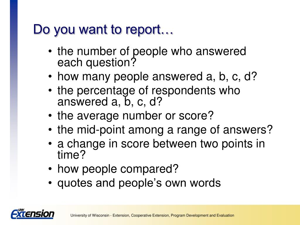 Do you want to report…