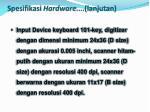 spesifikasi hardware lanjutan