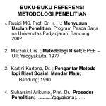 buku buku referensi metodologi penelitian