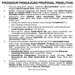 prosedur pengajuan proposal penelitian
