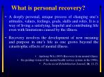 what is personal recovery