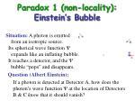 paradox 1 non locality einstein s bubble11