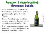 paradox 1 non locality einstein s bubble12