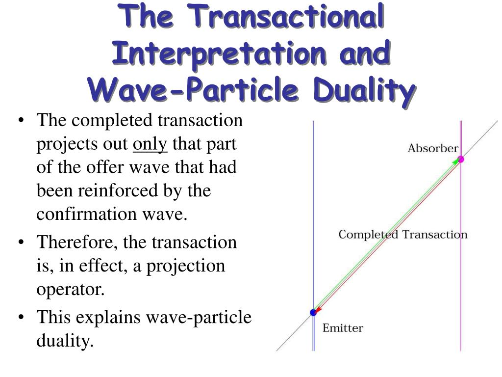 The Transactional Interpretation and