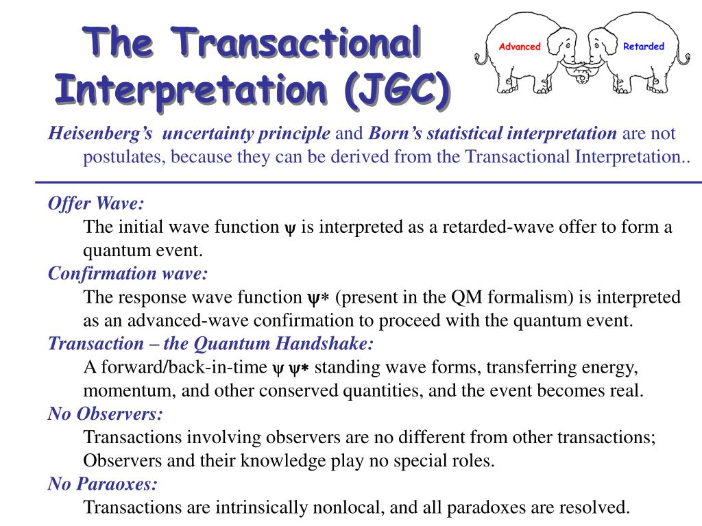The Transactional Interpretation (JGC)