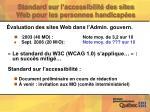 standard sur l accessibilit des sites web pour les personnes handicap es