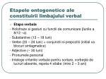 etapele ontogenetice ale constituirii limbajului verbal2