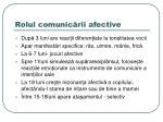 rolul comunic rii afective