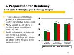 13 preparation for residency 1 to 5 scale 1 strongly agree 5 strongly disagree2