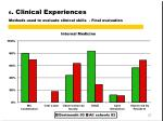 6 clinical experiences methods used to evaluate clinical skills final evaluation1