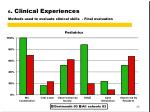 6 clinical experiences methods used to evaluate clinical skills final evaluation3