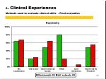 6 clinical experiences methods used to evaluate clinical skills final evaluation4