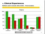 6 clinical experiences methods used to evaluate clinical skills final evaluation5