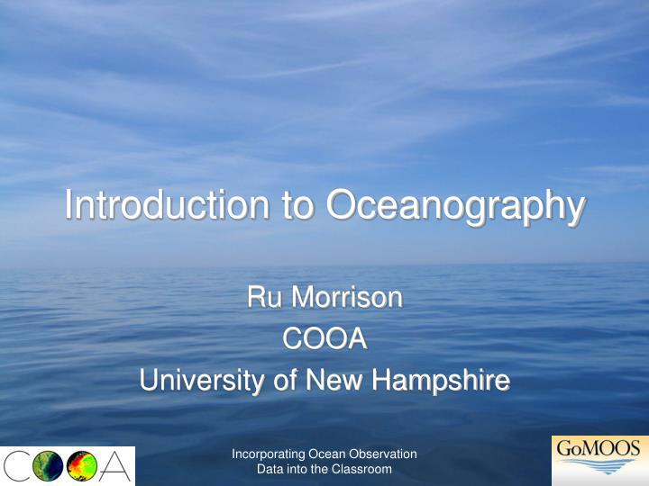 introduction to oceanography n.