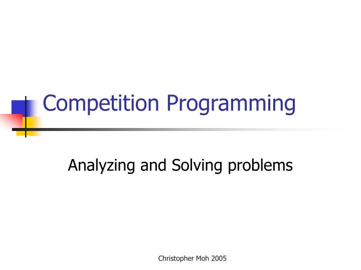 competition programming n.