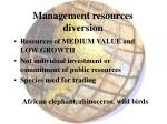 management resources diversion