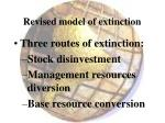 revised model of extinction
