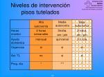 niveles de intervenci n pisos tutelados