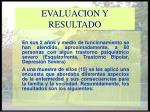 evaluacion y resultado