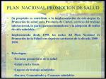 plan nacional promocion de salud