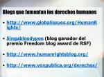 blogs que fomentan los derechos humanos