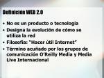 definici n web 2 0