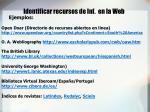 identificar recursos de inf en la web1