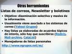 listas de correos newsletter y boletines