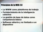 principios de la web 2 0