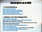 sumergirse en la web9