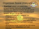 organisasi sosial masyarakat