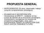 propuesta general