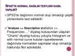 spss te normal da l m testleri nas l yap l r