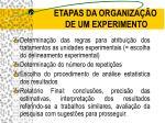 etapas da organiza o de um experimento1